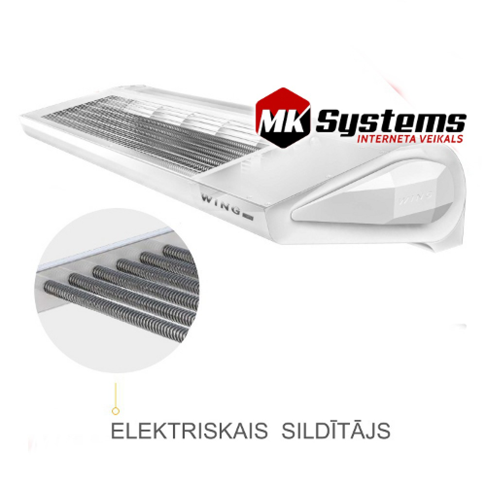 Electric Air Curtain Heaters Chameleon The Architectural: Air Curtains With Electric Heater VTS WING E150